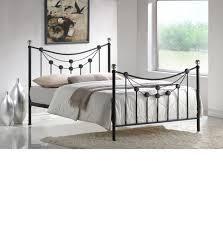 Black Metal Bed Frame Forse Black Metal Bed Frame 4ft6 Double