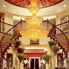 Interior Decorative Lights High End Luxury Crystal Chandelier Hotel Lobby Lamp Villa Living