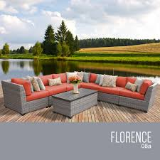 tk classics florence 8 piece outdoor wicker patio furniture set 08a