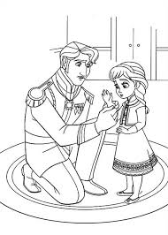 the king arendelle put gloves to young elsa colouring page fun