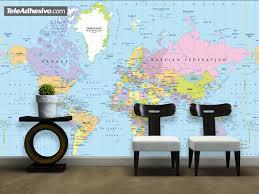 world political map 1 br wall murals world map 1