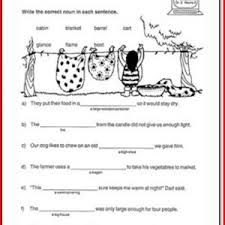 nouns verbs adjectives worksheets 1st grade kristal project