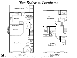 Floor Plans And Rates The Reserve Townhomes