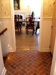 brick flooring great white wall painted also faux herringbone