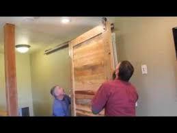 Installing A Sliding Barn Door Rlp Barn Door Hardware V Track Install With Header Youtube