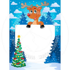 cartoon christmas theme frame by clairev toon vectors eps 38669