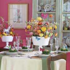 Easter Decorations Outside by Colorful Easter Table Decorations Southern Living