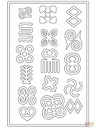 adinkra symbols coloring free printable coloring pages