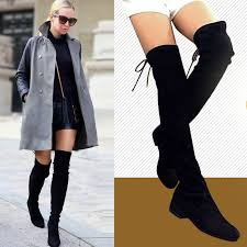 womens the knee boots canada genuine leather knee thigh boots european style slim