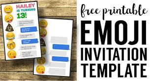free birthday invitations emoji birthday invitations free printable template paper trail