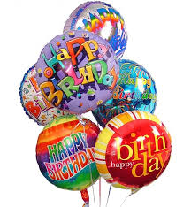 mylar balloon bouquets birthday balloon bouquet 6 mylar balloons send a gift of