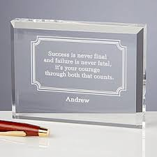 Personalized Desk Accessories Engraved Inspirational Quotes Personalized Keepsake Gift