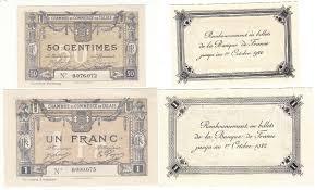 chambre de commerce calais 14 janv 1916 lot de 2 billets chambre de commerce de calais p neuf