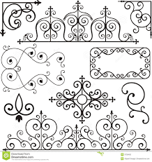 wrough iron ornaments stock photography image 3739492 numbers