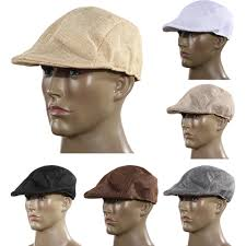 mens vintage flat cap peaked racing hat beret country golf newsboy