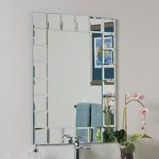 bathroom light up your home with frameless beveled mirror