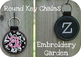 round key rings images In the hoop key rings key fobs round monogram key chains jpg