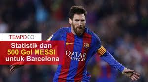 top skor liga spanyol messi di puncak beda 14 gol dari ronaldo