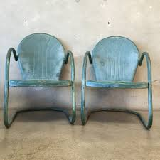 Vintage Metal Outdoor Furniture Turquoise Metal Outdoor Chair Home Chair Decoration