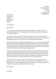 Best Cover Letters For Resumes by Unique Sample Cover Letters For Management Positions 93 For Your