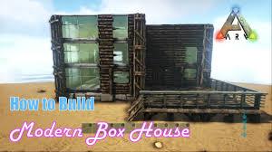 how to build modern box house ark survival evolved youtube