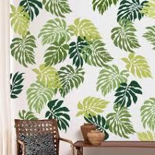 tropical wall trend palm leaf stencil kit by cutting edge stencils