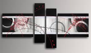 toile de cuisine abstrait tableau modern peint à la sur toile avec chassis