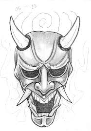 sketch a day japanese masks september 1st 7th