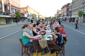 farm to table dinner medina main street dinner becomes a ticket orleans hub