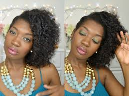 Chunky Flat Twist Hairstyles by Easy Natural Hair Updo Side Swept Flat Twist Out Curly