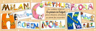 lettre chambre bébé plaques de porte prénom lettres bois déco pour chambre bébé et enfant