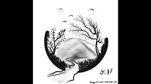 daily sketch 0078 how to draw silhouette of a mountain scene
