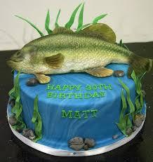 bass fish cake bc4118 bass fish birthday cake toronto fishing cakes cake and