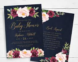 baby shower invitation template etsy