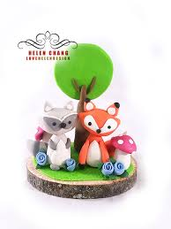 woodland cake toppers pin by l frisbie on baby shower woodland cake clay