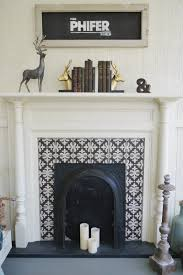 original fireplace in a southern fixer upper repurposed as a decorative accent on the covered