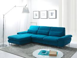 canapé d angle modulable convertible canapé d angle convertible bleu azur avec coffre yoshi canapé