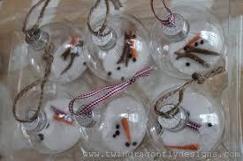 melting snowman ornament dragonfly designs