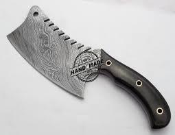 damascus steel kitchen knives damascus chef s cleaver knife custom handmade damascus steel