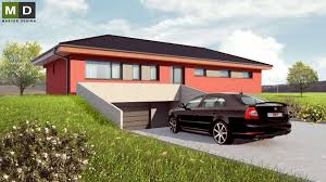 l shaped bungalow with a garage and a hipped roof kanice u brna