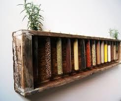 Wooden Wall Mount Spice Rack Spice Rack Kitchen House Pinterest Clever Kitchen Storage