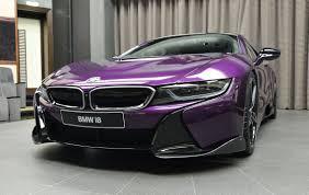 Bmw I8 Custom - bespoke twilight purple bmw i8 created by abu dhabi dealer