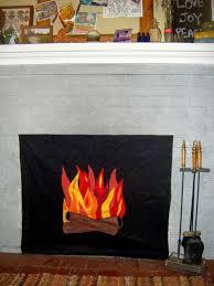 shellmo faux fire fireplace insert