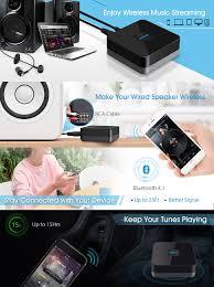 amazon com mpow bluetooth receiver for home music streaming