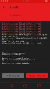 membuat flashable zip cwm awesome splash screen oppo powered by android flashable zip