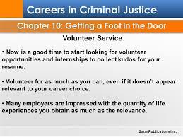 Resume Volunteer Work Chapter 10 Getting A Foot In The Door Ppt Download