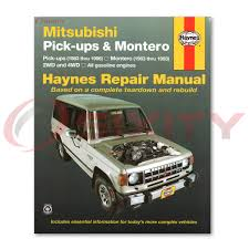 mitsubishi montero haynes repair manual rs sport ls sr base sp