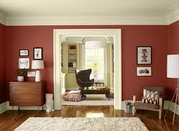 terracotta walls with white trim this looks very warm and not too