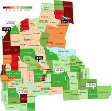 New York State Map With Cities And Towns by Central New York Halts Decline In Population According To Latest