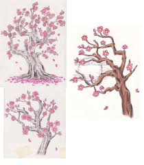 cherry blossom tree drawing how to paint a cherry tree in